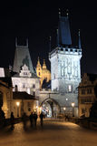 The Tower on the Charles Bridge in Prague in the N Royalty Free Stock Photos