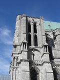 Tower of Chartres cathedral Stock Photo
