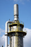 Tower of a chemical industry Royalty Free Stock Photos