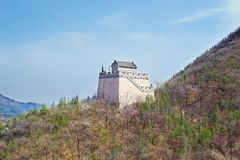 Tower in the Chinese mountains Stock Image