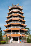 Tower with a chinese style roof in City Pillar Shrine of Suphanb Stock Photo
