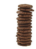 Tower chocolate cookie Royalty Free Stock Photography