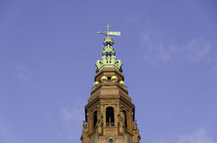 Tower of Christiansborg castle the Danish Parliament Building Royalty Free Stock Photography