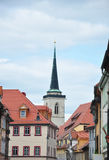 Tower of Church of All Saints in Erfurt Royalty Free Stock Photos