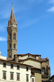 Tower church Badia Fiorentina Florence Firenze Stock Photos