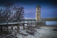 Free Tower Church Dams River Ebro Cantabria Spain Stock Photography - 64415072