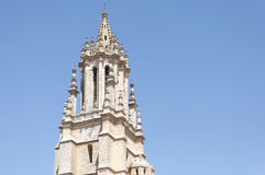 Tower of a church in Gothic-Renaissance style Royalty Free Stock Images
