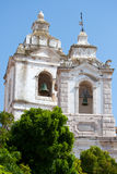 Tower of a church in Lagos, Portugal. Stock Image