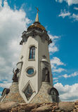Tower of church in landscape park  in village Buki,Ukraine Stock Images