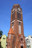 Tower of Church of Martin Lutherin Swinoujscie, Poland Stock Photography
