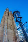 Tower of the Church of Our Lady Bruges Stock Photos