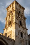 Tower of the Church of Saint Lazarus, Larnaca, Cyprus royalty free stock image