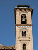 Tower of the Church of Santa Ana, Granada Royalty Free Stock Photos