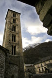 Tower of the church of Santa Eulalia de Erill-la-Vall Royalty Free Stock Photo