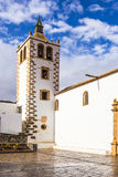 Tower of church Santa Maria de Betancuria, Betancuria village, F Royalty Free Stock Photos