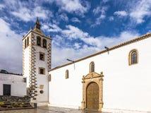 Tower of church Santa Maria de Betancuria, Betancuria village, F Royalty Free Stock Images