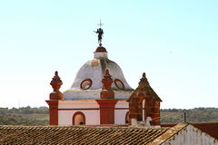Tower of a church in Silves, Portugal Royalty Free Stock Images