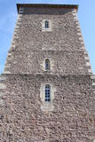 The tower of a church in South-West-France royalty free stock photo
