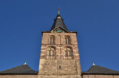Tower of the church in Straelen, Germany. Picture made on 16-10-2011 Stock Photography