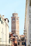 Tower of church in Venice Stock Photos