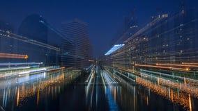 Tower. City beam motion light stock photos