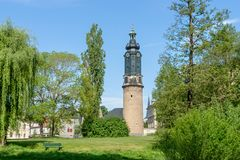Tower of the city castle in Weima. R in Germany stock photography