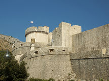 Tower in a city fortress Dubrovnik Stock Photo