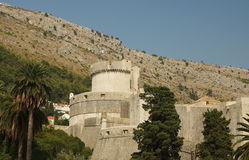 Tower in a city fortress Dubrovnik Stock Photos