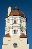 Tower of a city gate in a Bavarian town Royalty Free Stock Photo