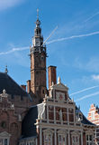 Tower of City Hall in Haarlem Stock Image