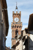 Tower city hall Pienza Stock Image
