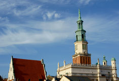 Tower of City Hall in Poznan Royalty Free Stock Images