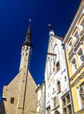 Tower of the city hall of Tallinn Stock Photography