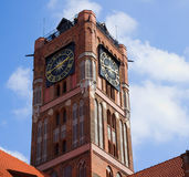Tower of city hall, Torun, Poland Royalty Free Stock Photography