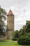 Tower of a city wall, Fritzlar, Germany Stock Images