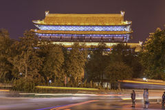 Tower City Wall, Xian Royalty Free Stock Images