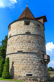 Tower of city of Zug fortifications Royalty Free Stock Photography