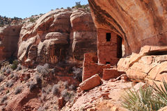 Tower cliff dwelling Royalty Free Stock Photo
