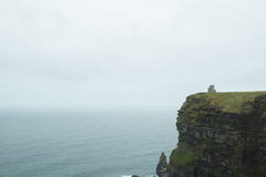 Tower in the Cliffs of Moher Royalty Free Stock Image