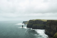 Tower in the Cliffs of Moher Stock Image
