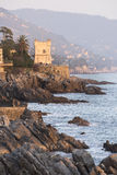 Tower on the cliffs of Nervi Royalty Free Stock Photos