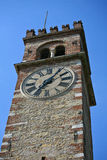 Tower with clock Royalty Free Stock Photo