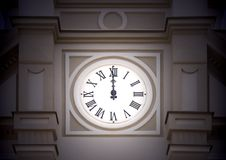 Tower clock Royalty Free Stock Photos