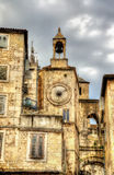 Tower-Clock at Diocletian Palace in Split Royalty Free Stock Images