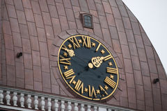 Tower clock of the  famous Dome Cathedral. Riga, Latvia. Royalty Free Stock Photos