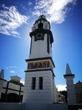 Tower clock. At ipoh Royalty Free Stock Photography
