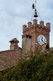 Tower clock. In a little tuscany town Royalty Free Stock Images