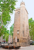 The tower with a clock Royalty Free Stock Image