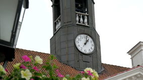 The tower clock from the old town hall in Tartu 4K FS700 Odyssey 7Q Royalty Free Stock Photo