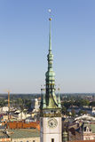 Tower clock of the Olomouc Town Hall Royalty Free Stock Image